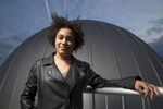 Moiya McTier is a folklore and mythology/astrophysics concentrator who has already discovered an exoplanet. She was raised in the woods in Pennsylvania coal country in a cabin without running water. She also plays rugby and has written a novel for her thesis. Jon Chase/Harvard Staff Photographer