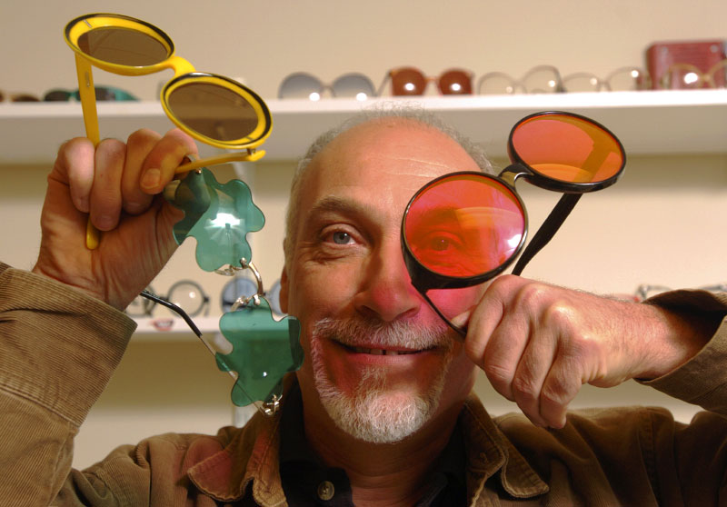 © 2010 Harvard University. Sunglasses and antique collector Vaughn Thibodeau.