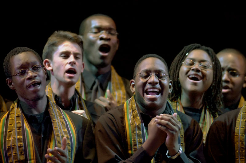 © 2010 Harvard University. Kuumba singers in concert, Harvard University, Cambridge, MA.