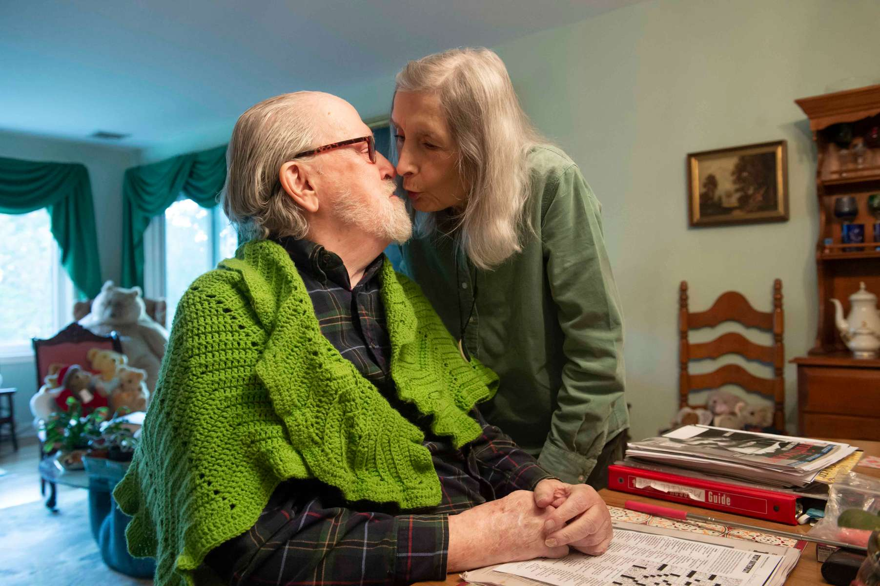 Don Gardner, 91, retired English teacher and college administrator, is confined to a wheelchair with a debilitating nerve disease that has robbed him of the use of his legs and more recently, his hands. Jon Chase photo