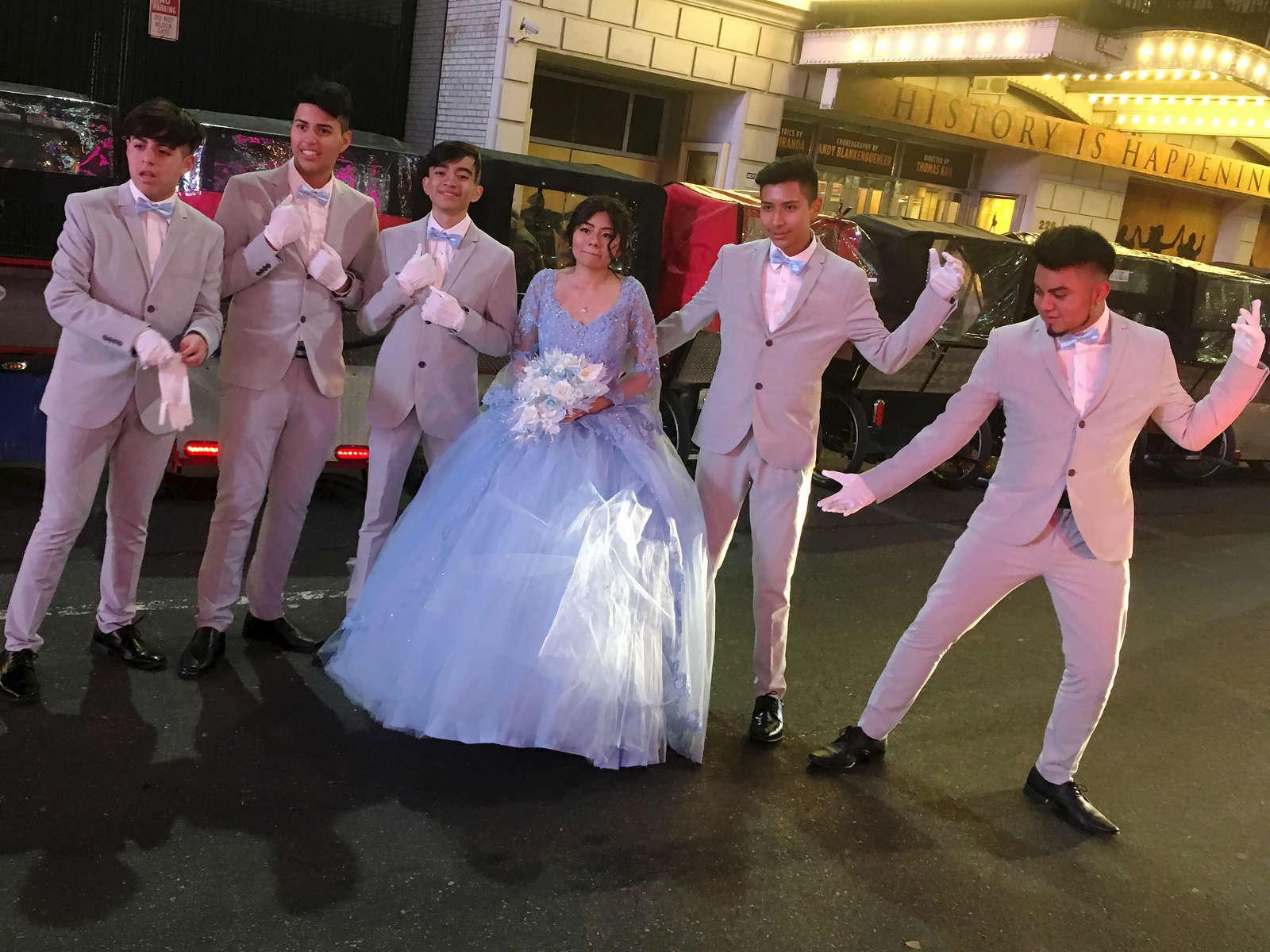 Wedding photo op on 47th St. NYC. Jon Chase photo