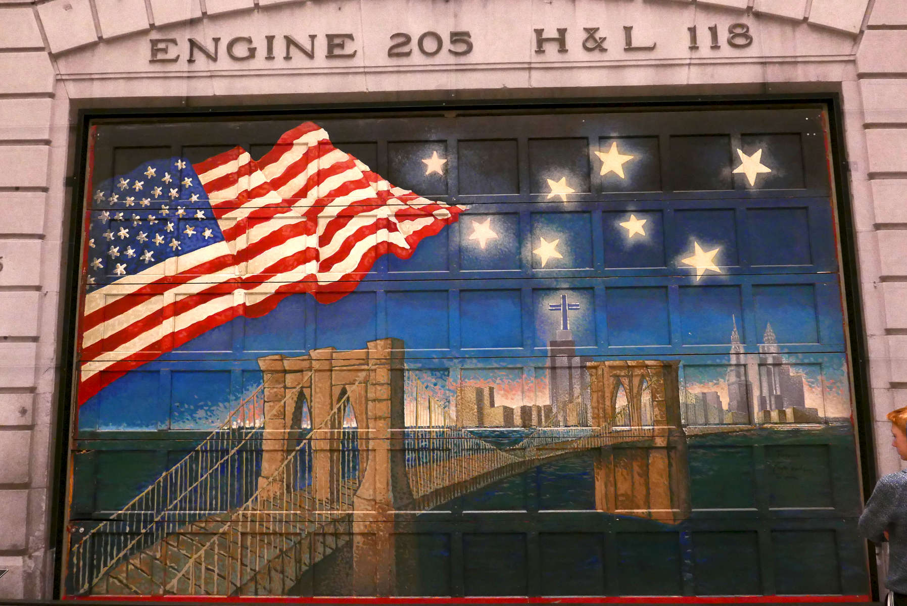 Painting honoring Engine Company 205, Hook and Ladder 118, in 9/11 Memorial and Museum. Jon Chase photo