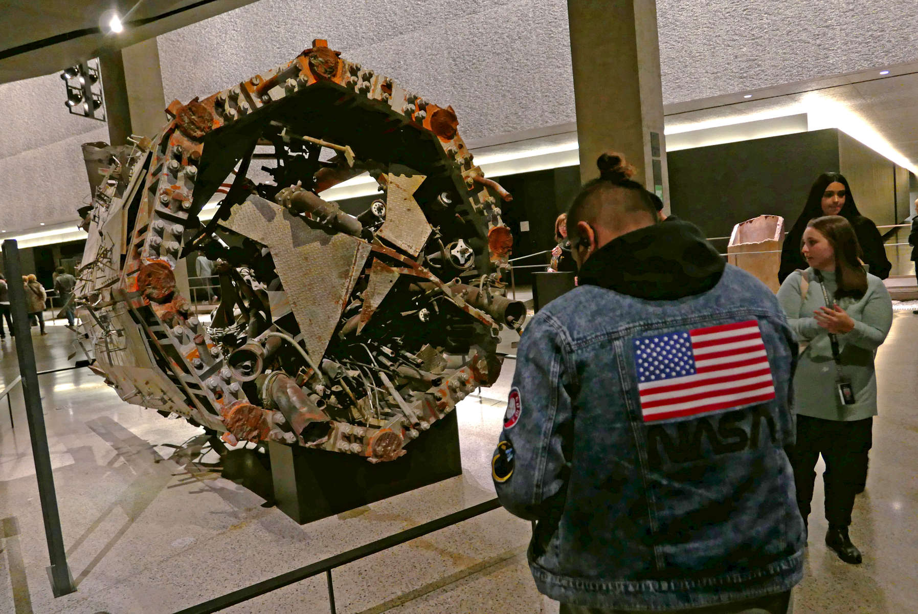 Remains of the rooftop antenna from one of the Twin Towers, 9/11 Memorial and Museum, NYC. Jon Chase photo