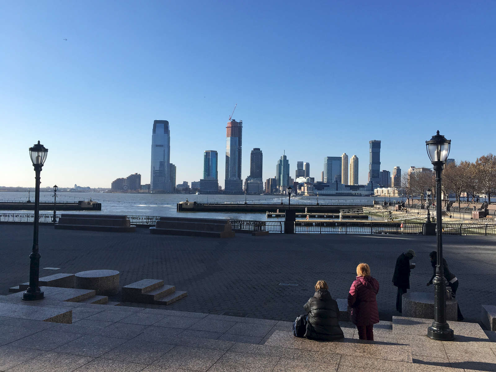 Looking across the Hudson River toward the New Jersey skyline. Jon Chase photo