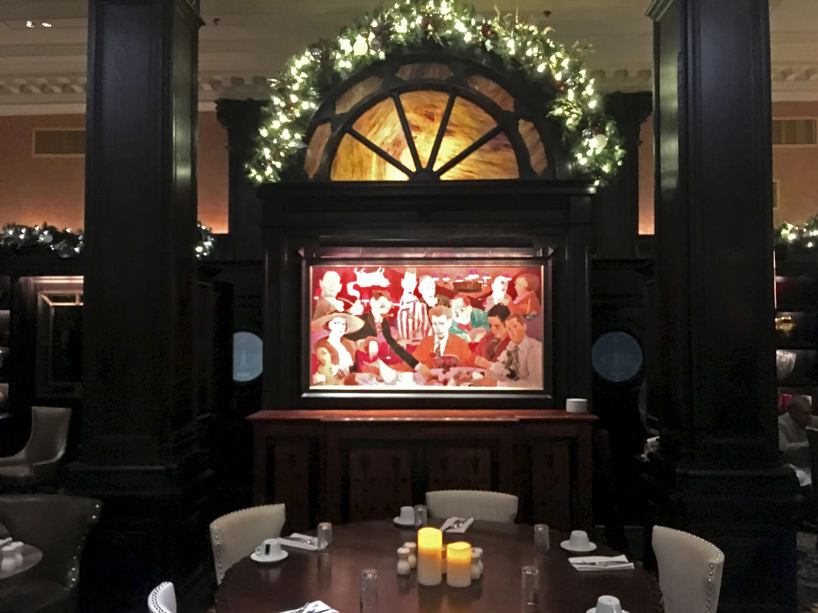 The famous Round Table where the literati gathered during the '20s and '30s, at the Algonquin Hotel, NYC. Jon Chase photo
