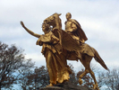 The gilded bronze General William Tecumseh Sherman Monument, NYC.  Jon Chase photo