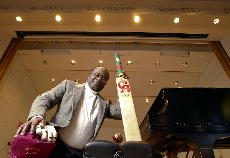 © 2010 Harvard University. Harvard Music Department custodian and cricket coach Shakespeare Christmas.