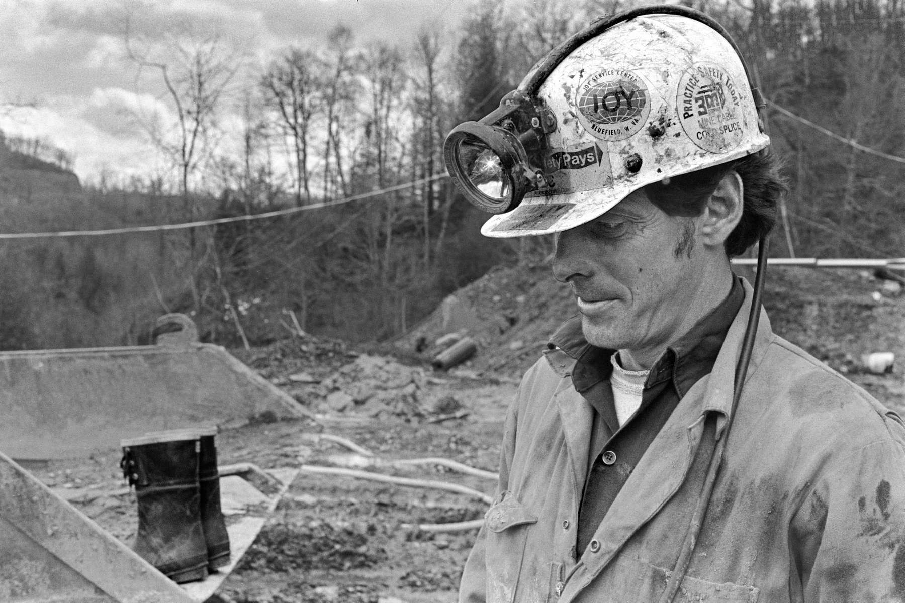 Morrell Mullins. day shift section foreman at Elkin Mine #6, Norton, VA, 1979. Jon Chase photo