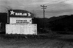 Harlan, Ky. drive-in surrounded by strip-mined hills.