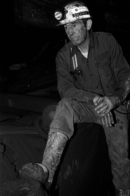 Coalminer on graveyard shift, Twilight, W.Va.