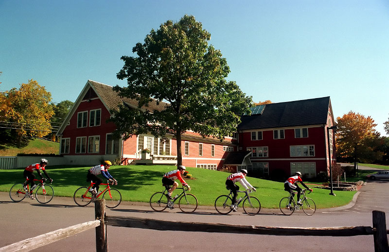 © 2010 Harvard University. Harvard Cycling Team on training run, Harvard, MA.