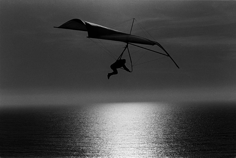 Hang glider, California coast.