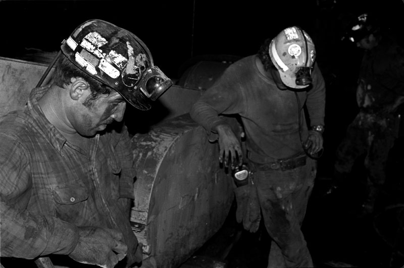 Resting miners on graveyard shift, Twilight, W.Va.
