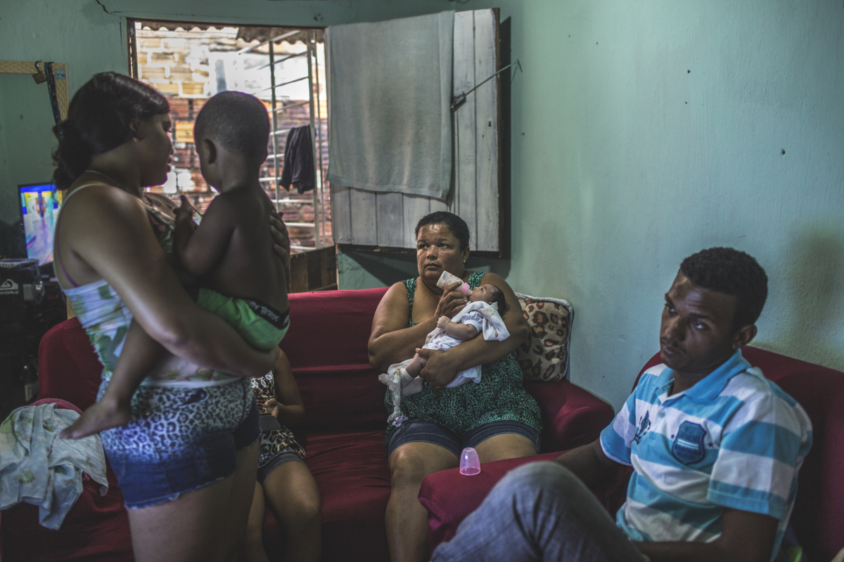 JANUARY 9, 2016-- Mirian Pereira, 40, quit her domestic housekeeping job ,where she cleaned homes of Recife's well-to-do families, to be a full-time mom to Duda. As a single parent, there was no way she could return to work in between Duda's therapies and medical needs. Mirian receives government Zika assistance $927 Reais / month for Duda. A state judge also donates through an NGO after seeing their story in the local news. That money goes coveres Duda's seizure medication Her son, Fernando Torres, 19, works at an auto shop full-time to provide for the family.