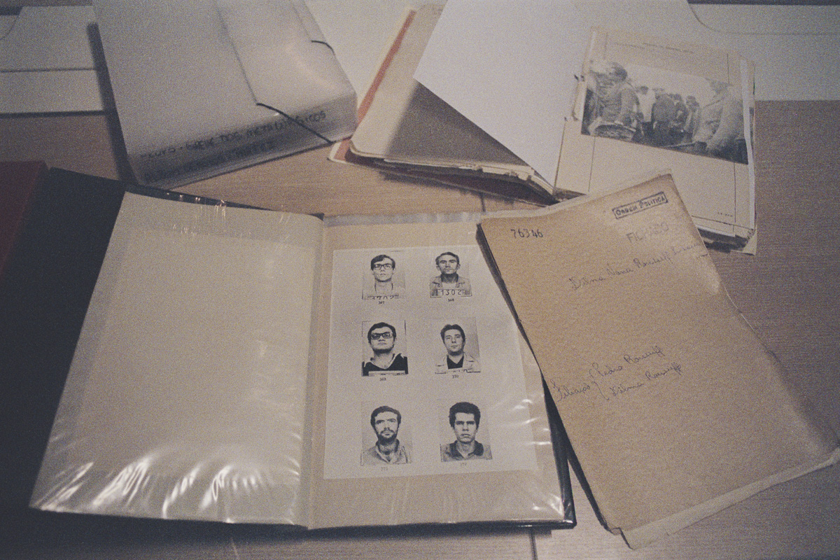 Dilma Rousseff's folder and mug shots of civilians who were arrested on charges of subversion and investigated, at the State Department of Political and Social Order (DEOPS), in São Paulo. The archives hold all investigations of civilians, social groups and social movements during the 20-year dictatorship and includes images of thousands of people arrested on charges of subversion.