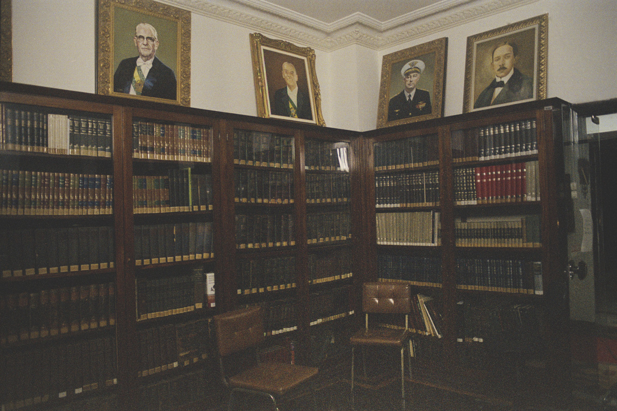 The library at the Military Club, in Rio de Janeiro.