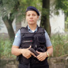 Patrol officer Meriane Barbosa, 30 yrs old, is with the Rapid Response Team of the Pacifying Police Unit (UPP), in Complexo do Caju, Rio de Janeiro, Brazil.