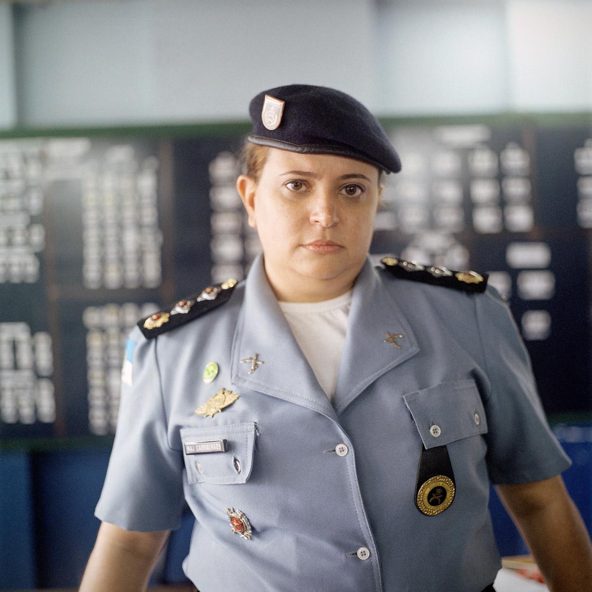 Major Alessandra Carvalhaes, Commander of the Pacifying Police Unit, Complexo do Caju, Rio de Janeiro, Brazil
