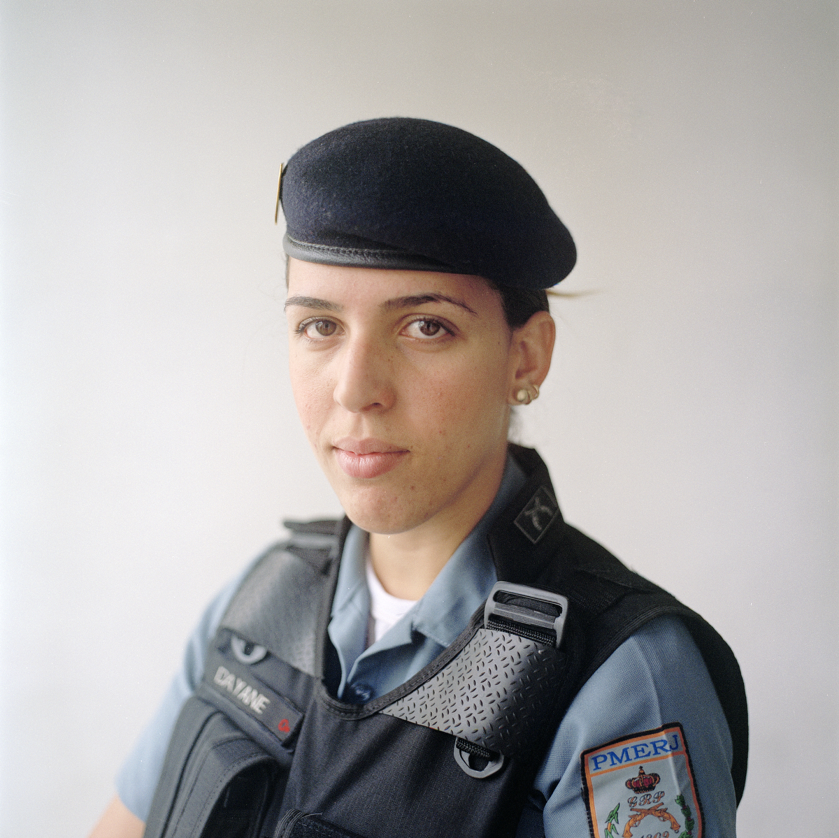 Patrol officer Dayane Alves, 22, is  with the Rapid Response Team of the Pacifying Police Unit (UPP) in Complexo do Caju, Rio de Janeiro, Brazil.