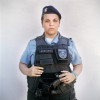 Patrol officer Adriana, with the Rapid Response Team of the Pacifying Police Unit (UPP), in Complexo do Caju, Rio de Janeiro, Brazil.