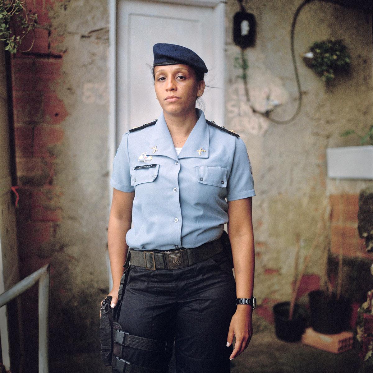 Major Priscila de Oliveira Azevedo, leads the Pacifying Police Unit in Rocinha, the largest single favela in Latin America, in Rio de Janeiro, Brazil.