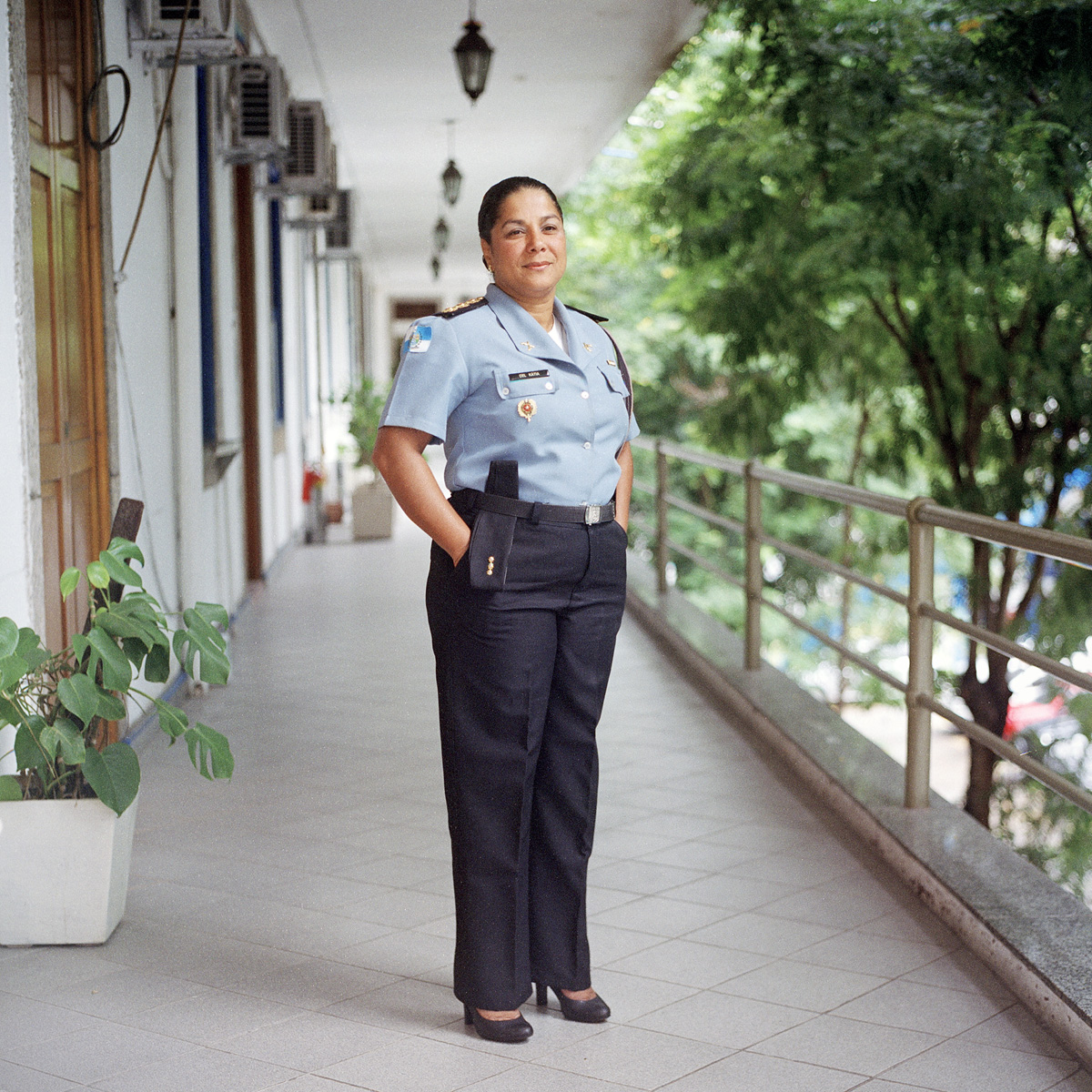 Coronel Katia Boaventura, Military Police Cabinet Chief, in Rio de Janeiro, Brazil. She is the first woman to become a Colonel.