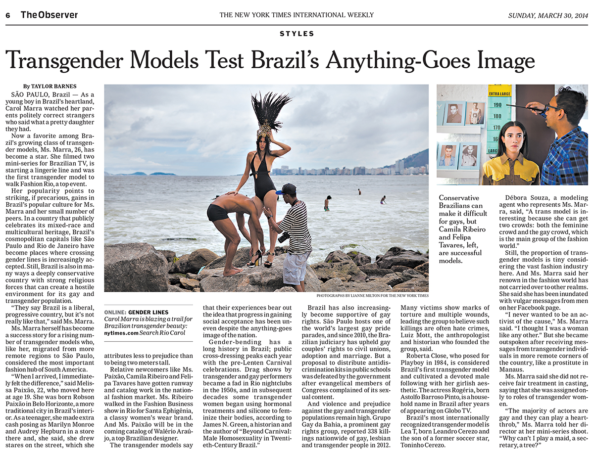 For the New York Times in Rio de JaneiroPublished: March 15, 2014