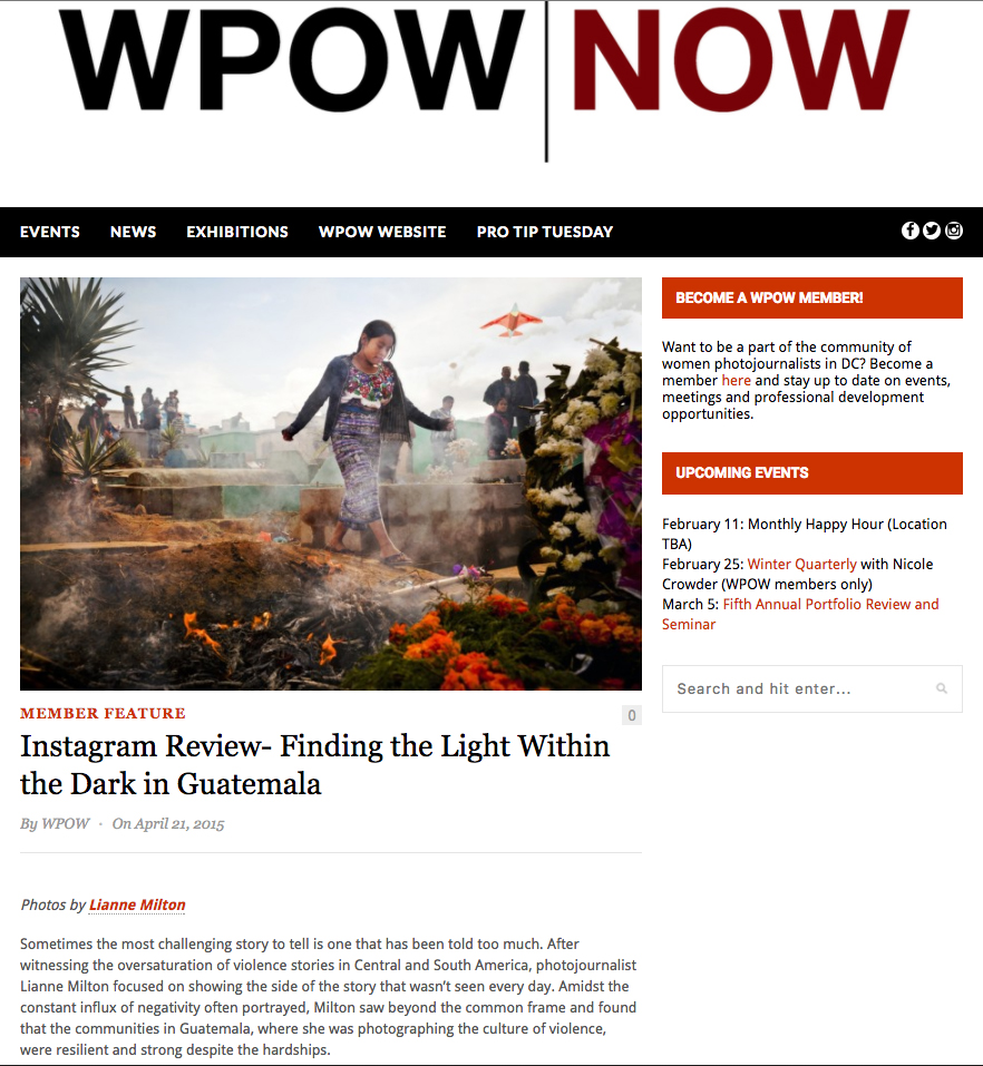 Finding the Light Within the Dark in GuatemalaFor WPOWMy longterm project on violence in Guatemala.