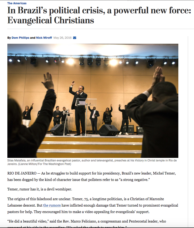 For the Washington Post in Rio de JaneiroPublished: May 26, 2016