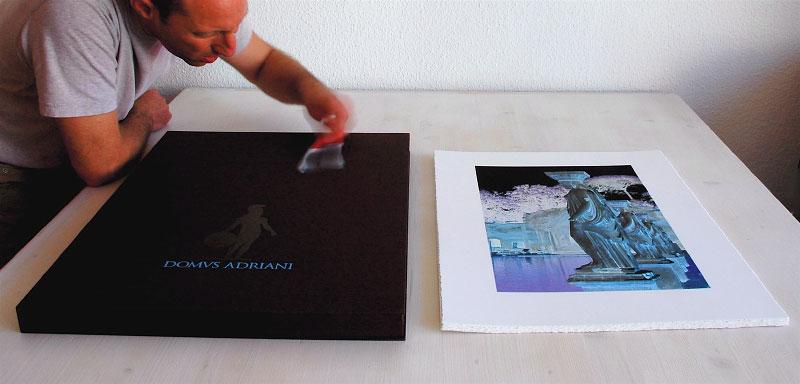 The portfolio box with eight prints