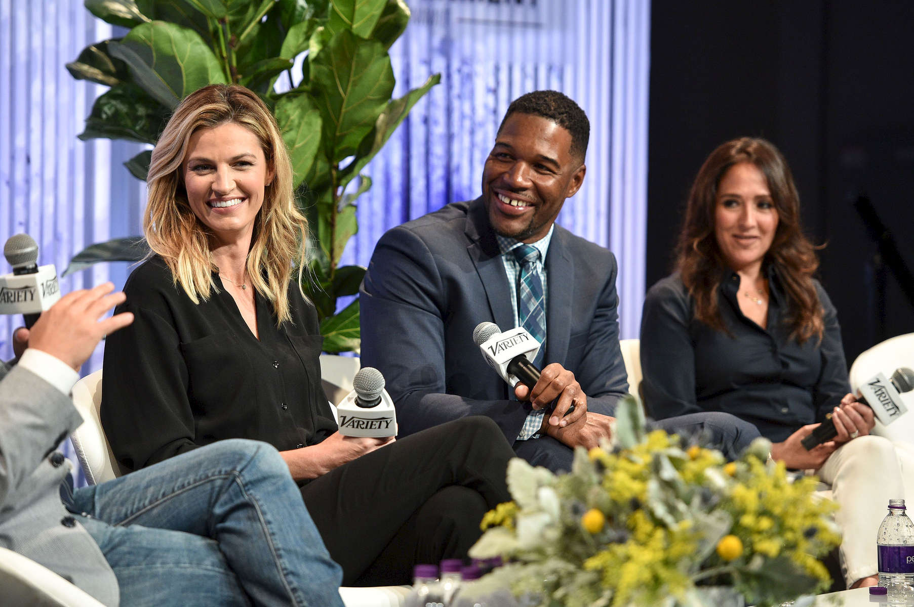 Mandatory Credit: Photo by Stewart Cook/Variety/REX/Shutterstock (8960146bq)Erin Andrews, Michael Strahan and Constance Schwartz-MoriniVariety Sports Entertainment Summit, Los Angeles, USA - 13 Jul 2017