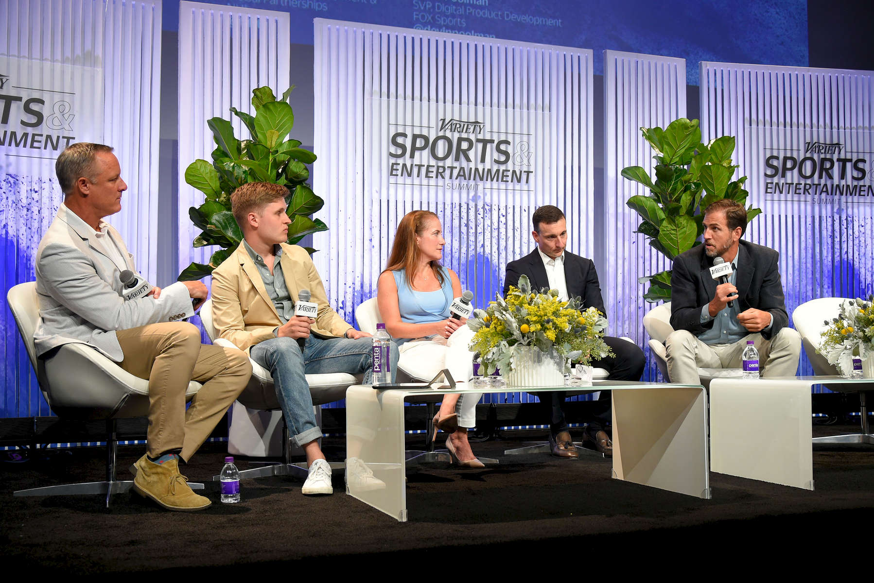Mandatory Credit: Photo by Stewart Cook/Variety/REX/Shutterstock (8960146it)David Nugent, Michael Davis, Laura Froelich, David Lehanski and Devin PoolmanVariety Sports Entertainment Summit, Los Angeles, USA - 13 Jul 2017