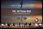 Mandatory Credit: Photo by Stewart Cook/Deadline/REX/Shutterstock (9629827n)Mike Fleming, Ken Burns, Lynn Novick, Trent Reznor and Atticus RossPBS 'The Vietnam War' presentation, The Contenders Emmys presented by Deadline Hollywood, Los Angeles, USA - 15 Apr 2018