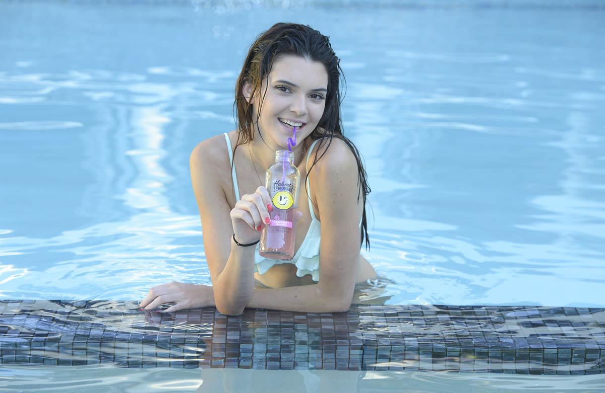 Kendall Jenner for Huberts lemonade