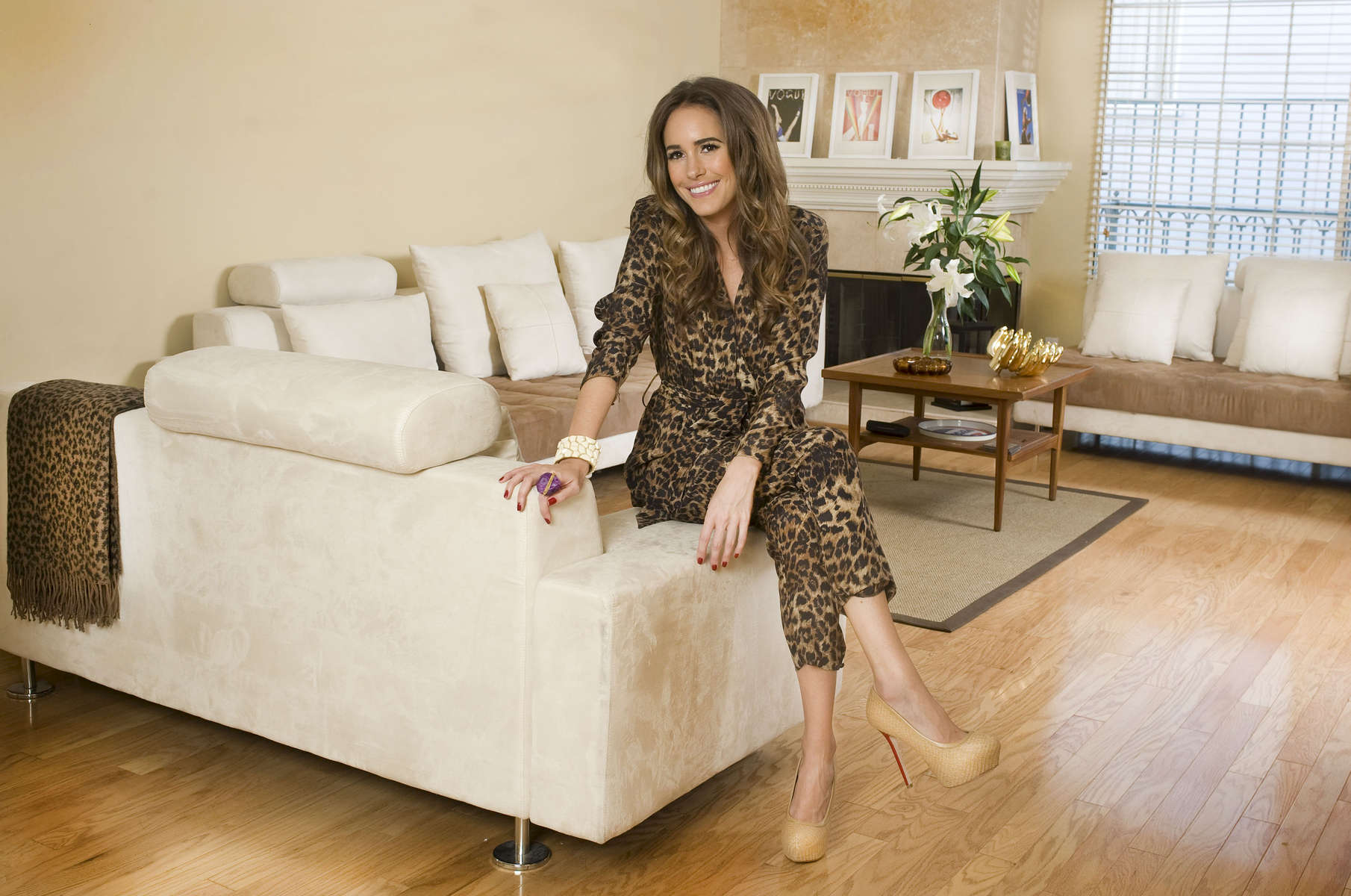 Louise Roe at her home in Beverly Hills, CA. USA
