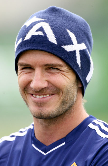 David Beckham training with the LA Galaxy