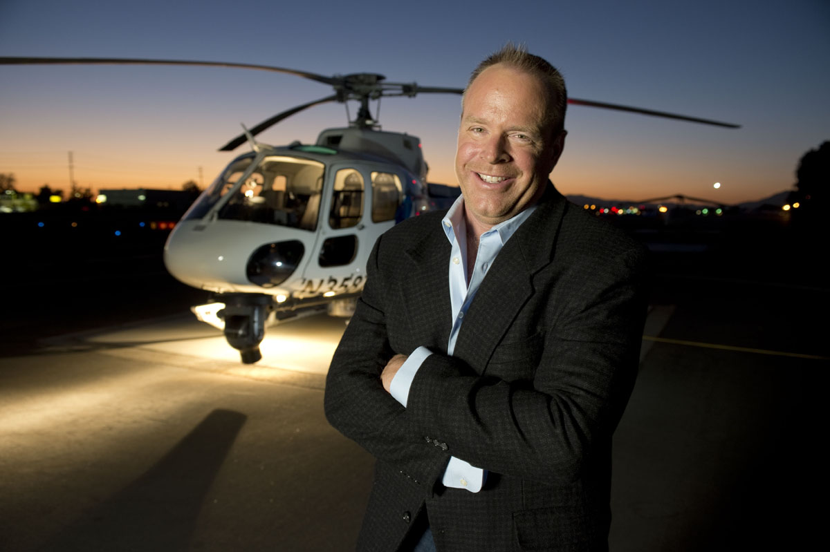 KNBC aerial reporter Will with News Chopper 4