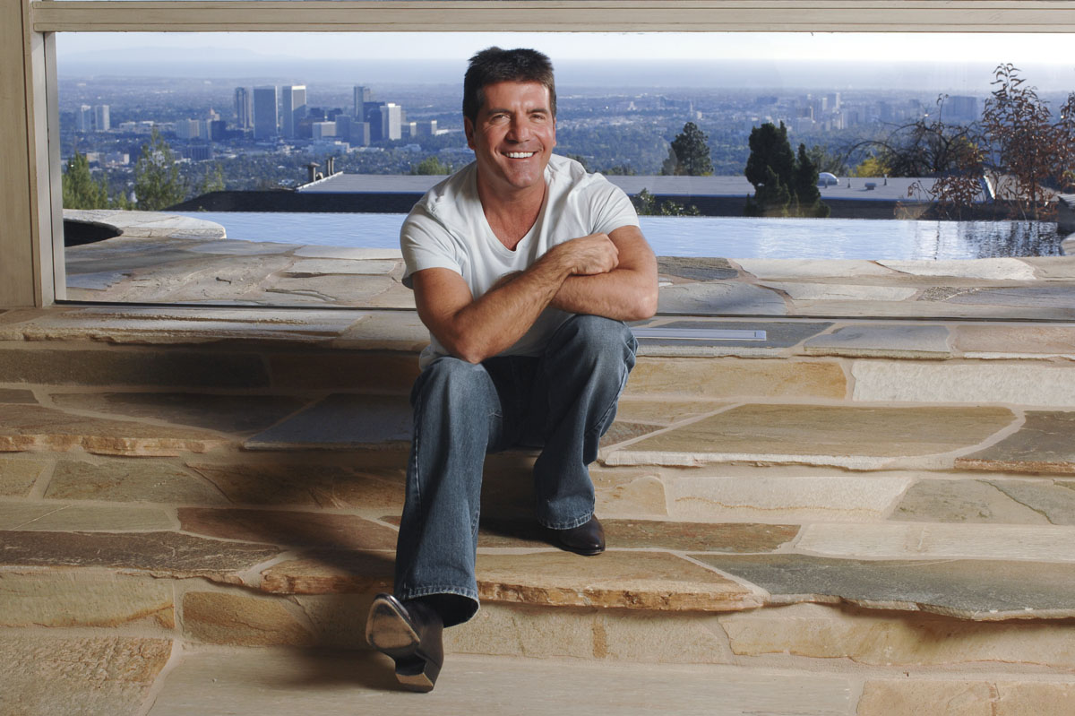 Simon Cowell at his Beverly Hills home