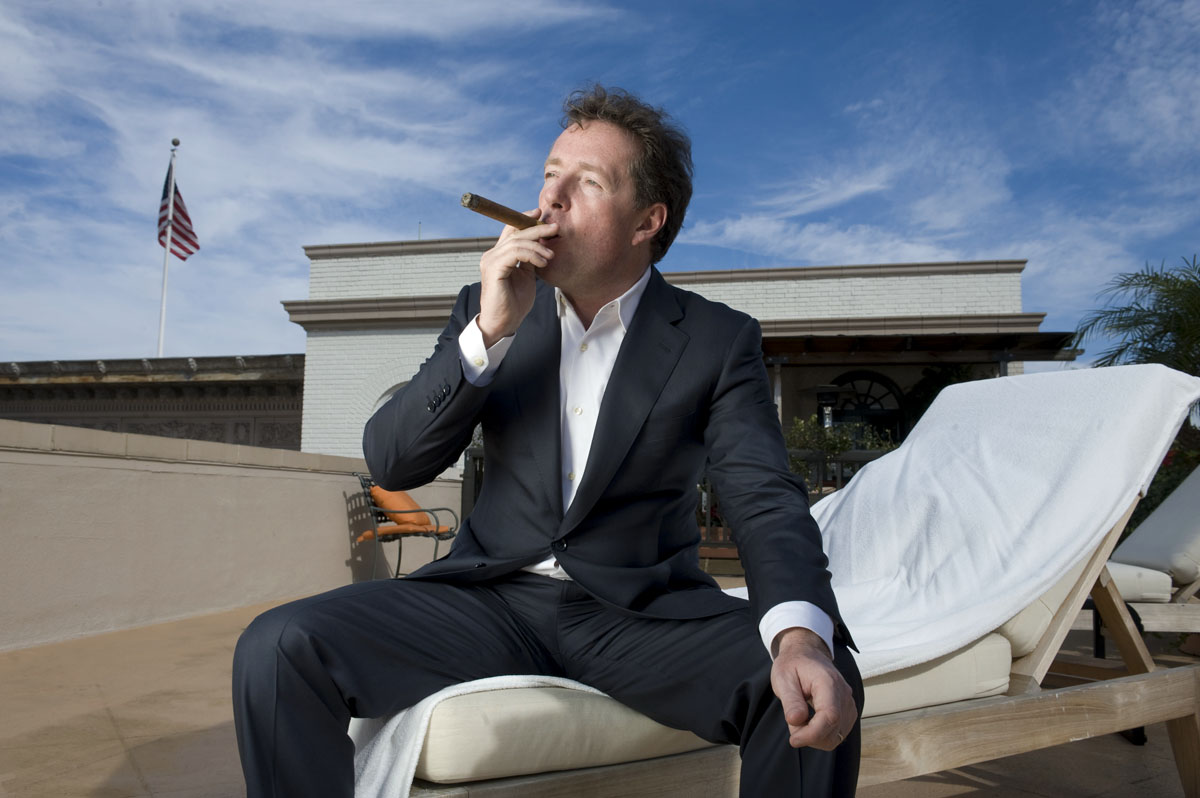 Piers Morgan at home in Beverly Hills