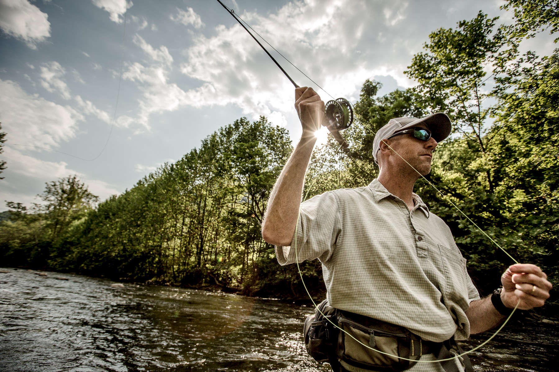 Man fy fishing in Virginia and West Virginia.