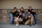 Left to right: me, Tommy (second cameraman), Mike (first cameraman), Tony (the star), Glenn (sound), Greg McKean (producer and WWE inspiration).©  2008 mark menditto. all rights reserved.(2008-09 ESP-811)