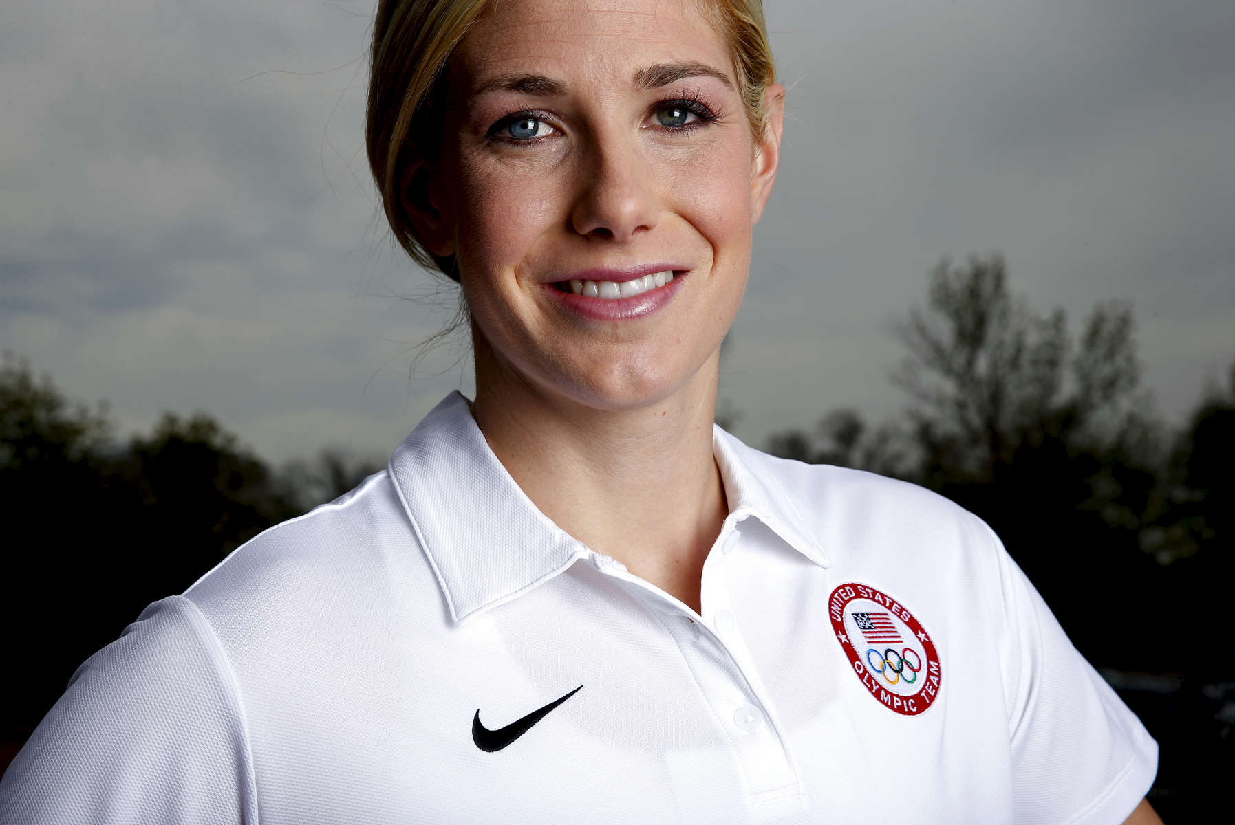 Modern pentathlete Grace Kittle poses during the USOC portrait shoot at the United States Olympic Training Center on May 14, 2015 in Colorado Springs, Colorado.