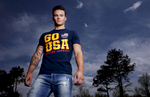 Gymnast Paul Ruggieri poses during the USOC portrait shoot at the United States Olympic Training Center on May 14, 2015 in Colorado Springs, Colorado.