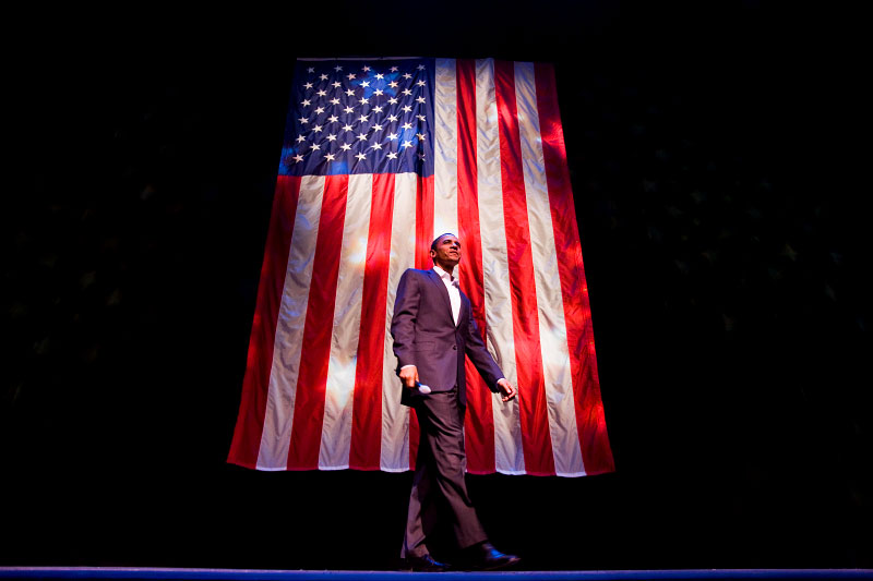"10.22.07 Newark - Obama's ""Countdown to Change'' is a low-budget fundraiser designed to bring out average citizens as supporters. Tickets for the event at the New Jersey Performing Arts Center in Newark are $15 for students and seniors,$25 general admission. Photo by Marc Steiner/ANJ"
