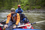 Jared Hopkinson and right hand man Johnny Landward moving fast in high water on the River of No Return. Spring 2010.