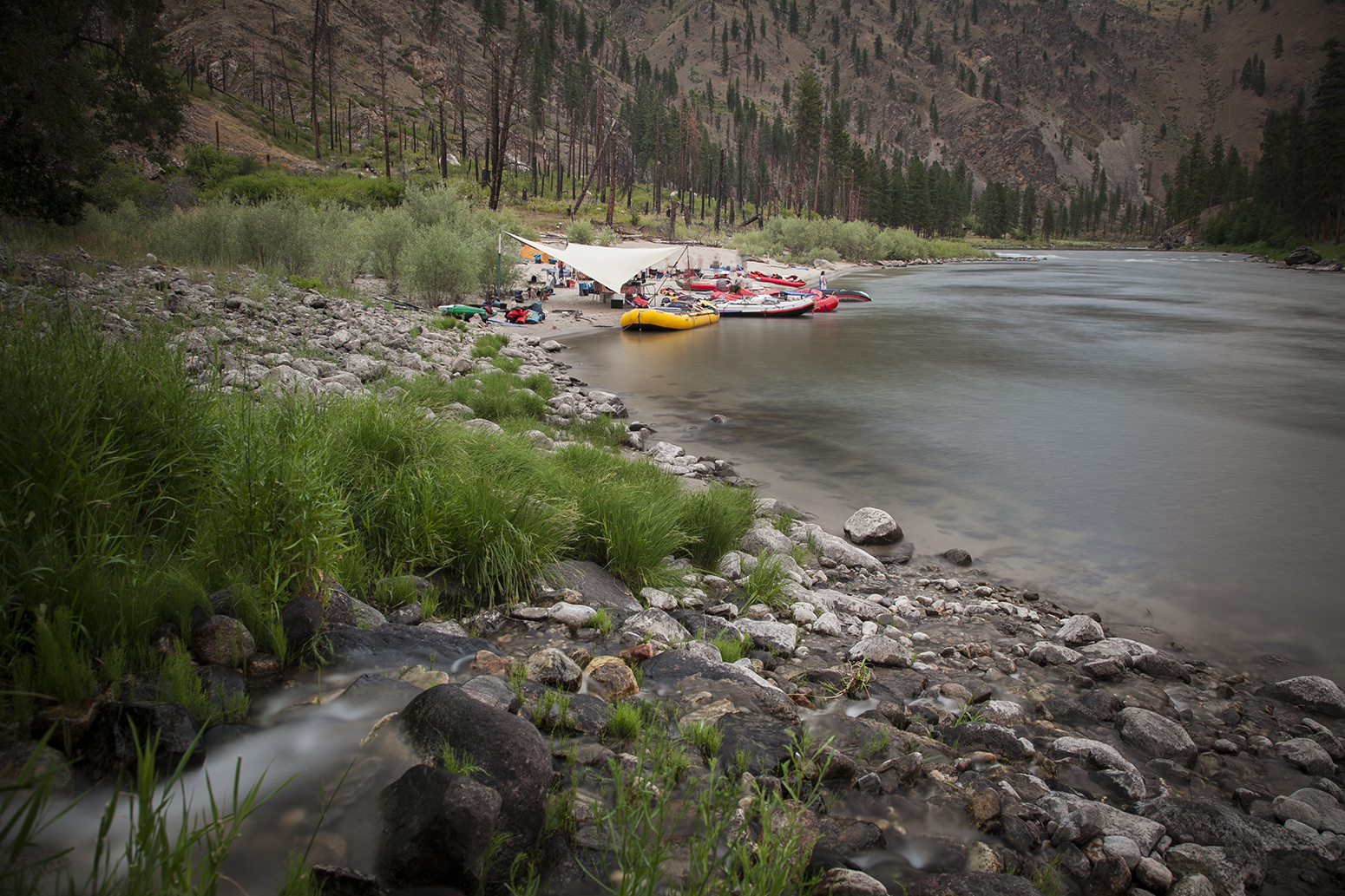 Camp on the River of No Return, Summer 2013.