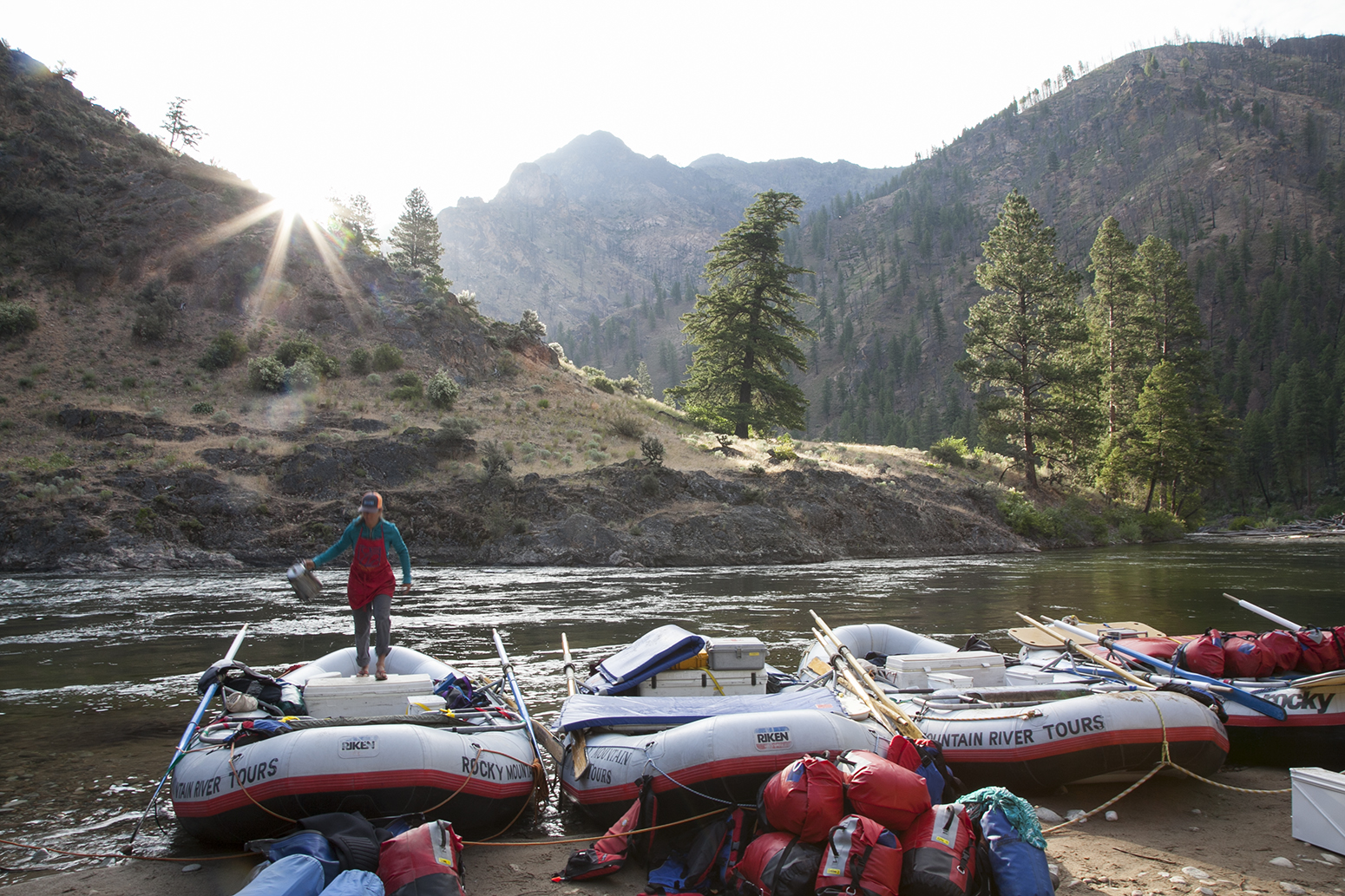 Daybreak at Whitie Cox Camp on the Middle Fork of the Salmon River 2014.