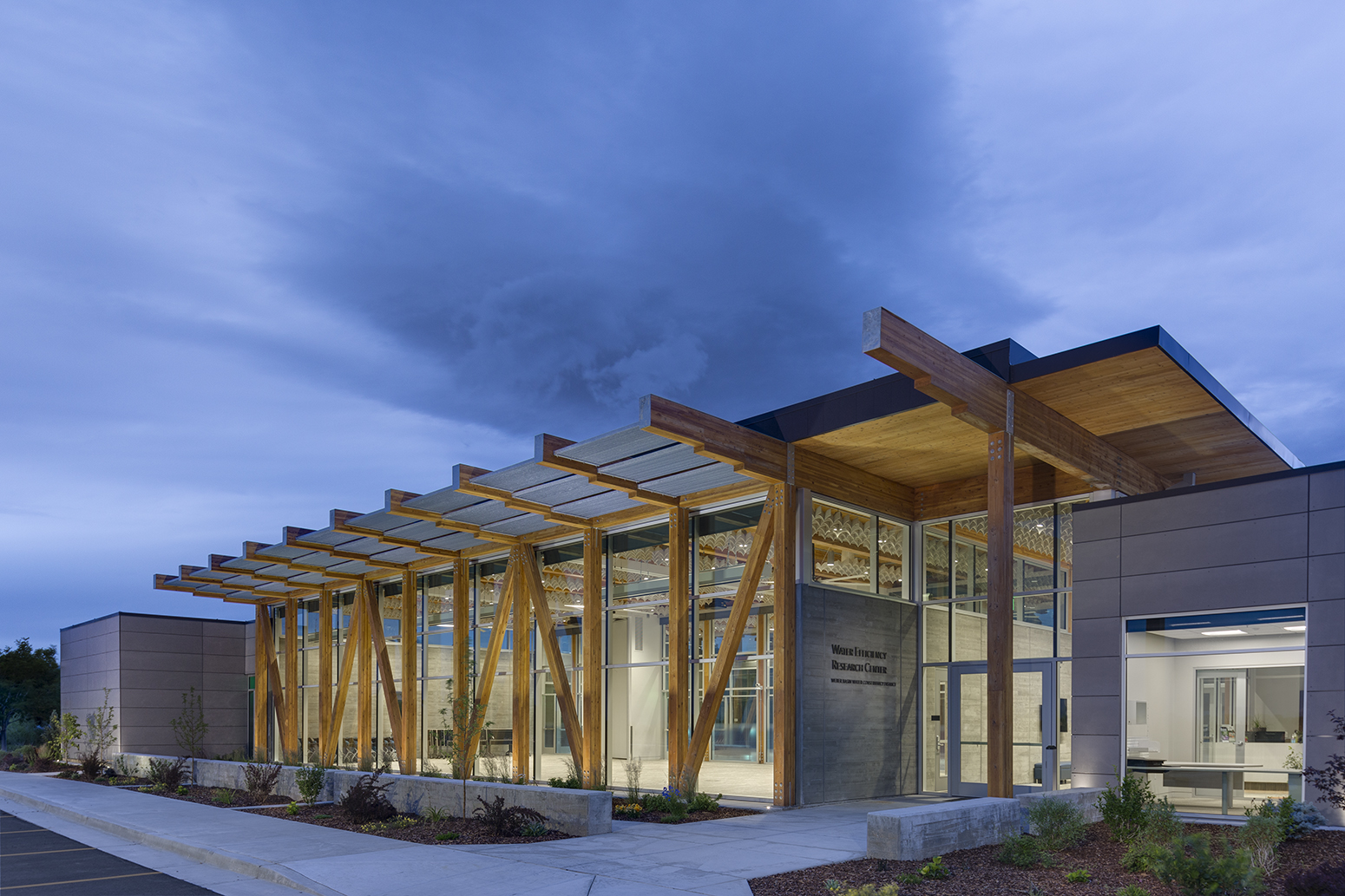 Weber Basin Water Efficiency Research Center for GSBS Architects.Architectural Photography by: Paul Richer / RICHER IMAGES