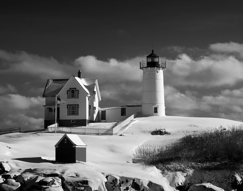 Cape Neddick Lighthouse in Winter