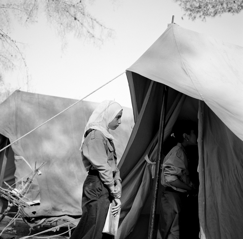 Boyscouts and Girlscouts gathered for a weekend of camping outside of the capitol of Tripoli. The girls however, were not permitted to camp as the boys were because of insecurities following the Revolution.